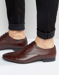 Walk London Mark Toe Cap Oxford Shoes Red