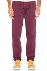 Stussy Garment Dyed Beach Pant Burgundy