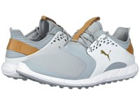 Puma Golf Ignite Power Sport Quarry Team Gold White Golf Shoes Blue