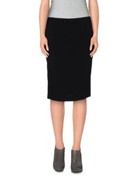 Miu Miu Knee Length Skirts Black