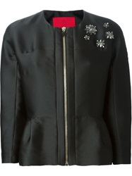Moncler Gamme Rouge 'Ambre' Cropped Jacket Black