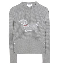 Thom Browne Cable Knit Sweater Grey