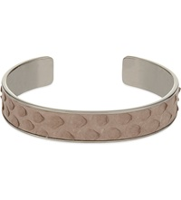 Aspinal Of London Cleopatra Skinny Python Leather Cuff Bangle S Nude