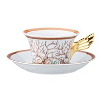 Versace 25Th Anniversary Etoiles De La Mer Teacup And Saucer Limited Edition