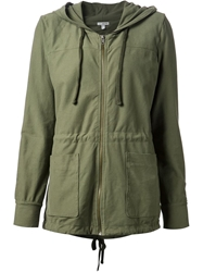 James Perse Hooded Military Jacket Green
