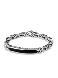 David Yurman Chevron Black Onyx Id Bracelet