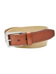 Fossil Two Tone Textured Belt Khaki