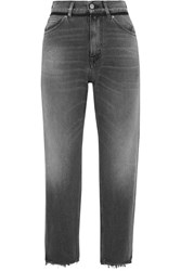 Golden Goose Deluxe Brand Komo Cropped High Rise Straight Leg Jeans Gray