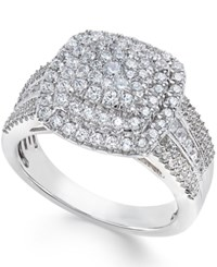 Macy's Diamond Cluster Ring 1 Ct. T.W. In 10K White Gold