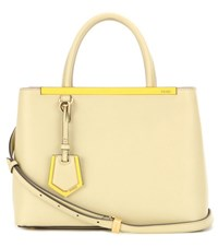 Fendi 2Jours Petite Leather Tote Yellow