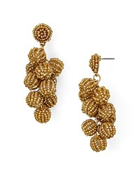 Aqua Beaded Cluster Drop Earrings 100 Exclusive Gold