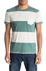 Quiksilver Men's Maxed Out Pocket T Shirt Silver Pine