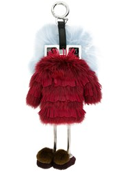 Fendi Teen Witches Bag Charm Red