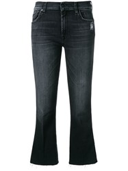 7 For All Mankind Cropped Bootcut Jeans Black