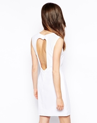 Glamorous Shift Dress With Open Back White