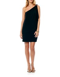 Laundry By Shelli Segal Matte Jersey One Shoulder Dress Black