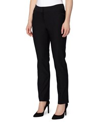 Tahari By Arthur S. Levine Petite Solid Stretch Pants Black