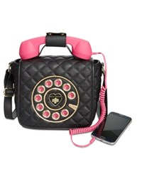Betsey Johnson Small Quilted Phone Crossbody A Macy's Exclusive Style Black