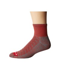 Drymax Sport Hiking 1 4 Crew 1 Pair Red Anthracite Crew Cut Socks Shoes Black