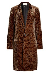Vanessa Bruno Printed Silk Blend Coat