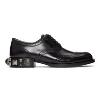 Dolce And Gabbana Black Studs Pearls Brogues