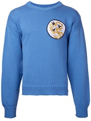 J.W.Anderson Embroidered Patch Sweater Blue