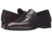 Salvatore Ferragamo Gaudo Loafer Wine Men's Slip On Shoes Burgundy