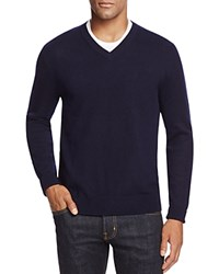 Bloomingdale's The Men's Store At Cashmere V Neck Sweater Navy