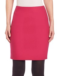 Akris Punto Techno Wool Mini Skirt Pink