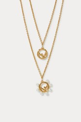 Fendi F Is Double Chain Necklace