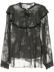 Needle And Thread Butterfly Top Black