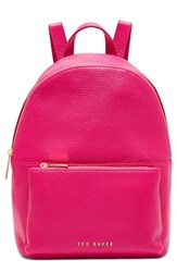 Ted Baker London Pearen Leather Backpack Pink Fuchsia
