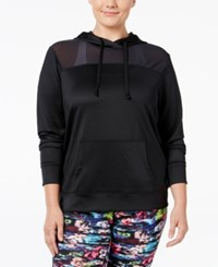 Material Girl Plus Size Scuba Hoodie Only At Macy's Noir