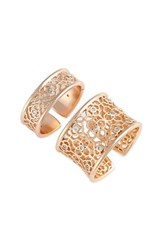 Kendra Scott Women's Kensey 2 Pack Rings White Cz Rose Gold