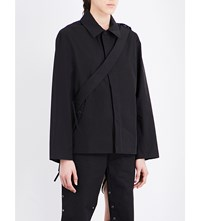 Craig Green Strap Detail Cotton Blend Jacket Black