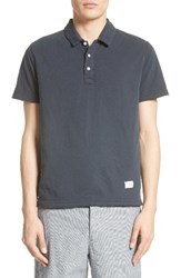 Rag And Bone Men's Standard Issue Double Knit Polo Navy