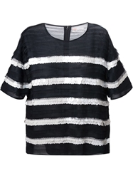 Red Valentino Sequin Embellished Striped Top