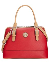 Giani Bernini Saffiano Dome Satchel Only At Macy's Red
