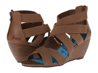 Blowfish Beate Whiskey Delicious Pu Women's Wedge Shoes Brown