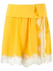 Talie Nk Lace Details Skirt Yellow Orange
