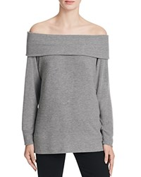 Cupcakes And Cashmere Brooklyn Off The Shoulder Sweater Heather Grey