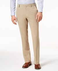 Kenneth Cole New York Stretch Twill Dress Pants Khaki