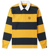 Rag And Bone Long Sleeve Striped Rugby Shirt Yellow