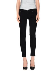 Htc Denim Denim Trousers Women Black