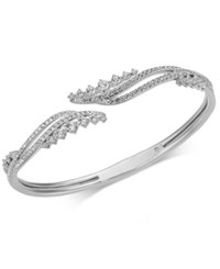 Danori Pave Swirl Bangle Bracelet Clear