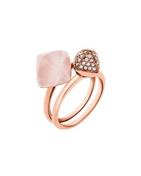 Michael Kors Blush Stacking Ring Set Rose Golden Women's
