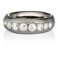 Roberto Marroni Women's Diamond And Oxidized Gold Band No Color