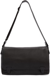 Lanvin Black Leather Messenger Bag