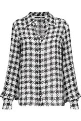 Mcq By Alexander Mcqueen Houndstooth Twill Shirt Ivory