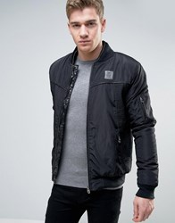 Born Rich Jacket With Faux Leather Detail Black